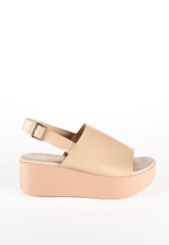 AUDADI beige JENNA Slide on Sandal 6AAEFSH7DD70A9GS_1