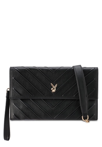 PLAYBOY BUNNY black Ladies Clutch/Sling Bag 305F6ACA96039BGS_1