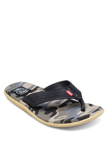 Akemashesprit taiwanite 迷彩夾腳拖鞋, 鞋, 鞋