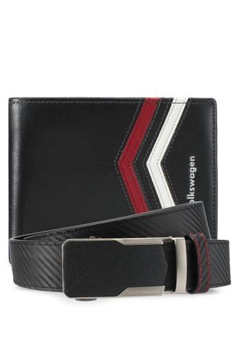 Volkswagen black Volkswagen Belt & Wallet Gift Set VO089AC0SMA2MY_1