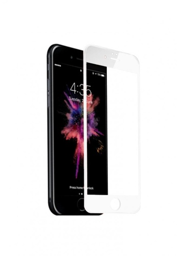 MobileHub white 5D Full Screen Tempered Glass Curved Screen Protector for Apple iPhone 6/ 6s A3FAFAC87B673AGS_1