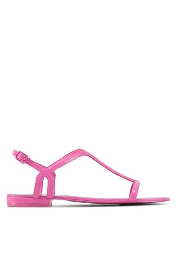ALDO pink Adurien Flat Sandals 9D66CSHE152BEEGS_1