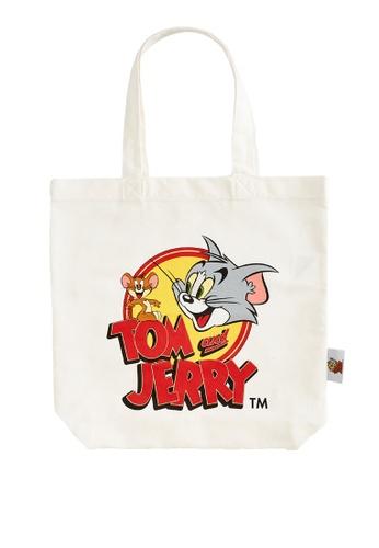 LC WAIKIKI white Tom and Jerry Printed Shopping Bag 497A6KC8BEB091GS_1