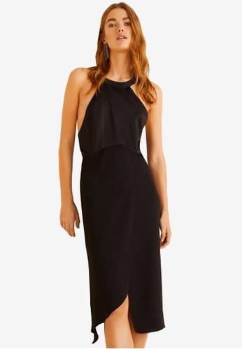 Mango black Contrasting Satin Dress 1CF44AAC07B10DGS_1
