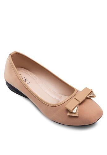 方頭蝴蝶結平底鞋esprit手錶專櫃, 女鞋, 鞋