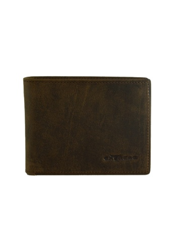 EXTREME brown Extreme Genuine Leather Short Wallet with Mid Flap (19 Slots) E1A04AC5771C5FGS_1