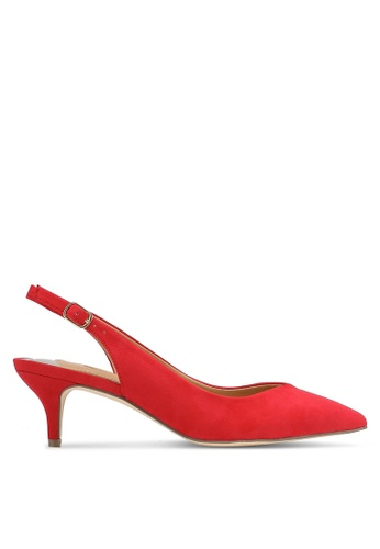 River Island red Red Slingback Kitten Heels RI009SH0RC09MY_1