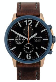 Alexandre Christie Jam Tangan Pria - Brown Rosegold Blue - Leather Strap -  6267 MCLURBU 8BA33AC8B48F58GS 1 41197fe4c4