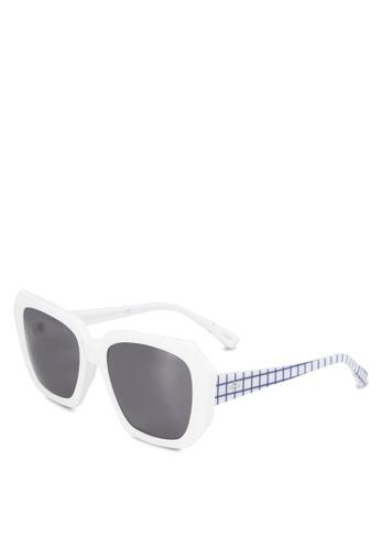 BLANC & ECLARE white Tokyo II Sunglasses 78B12GLF84F7E9GS_1