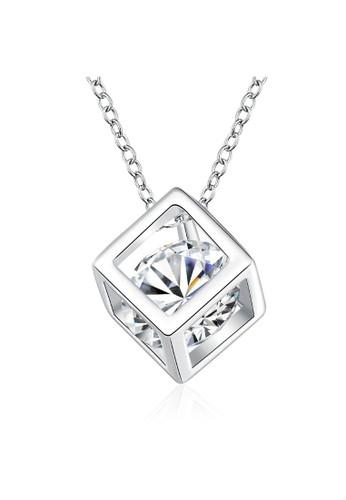 Tiaria white Tiaria Necklace Crystal Box Lady Necklace Silver Plated Perhiasan Kalung Wanita SPCN750--K09 04BD8ACA545200GS_1