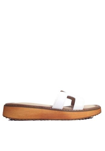 Twenty Eight Shoes 白色 真皮厚底拖鞋 VS66610 DAFD1SH34E33E4GS_1