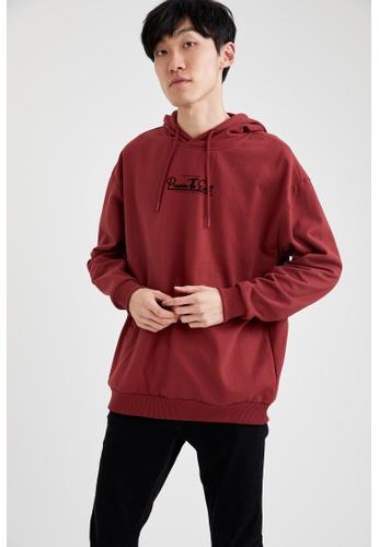 DeFacto red Text-Motif Sweatshirt 266DAAA7F7E304GS_1