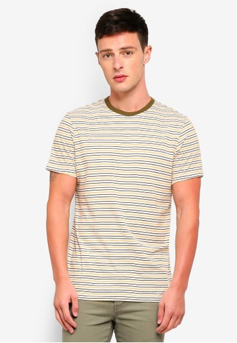Jack Wills green Rodwell Stripe T-Shirt 2258DAAB9A6514GS_1