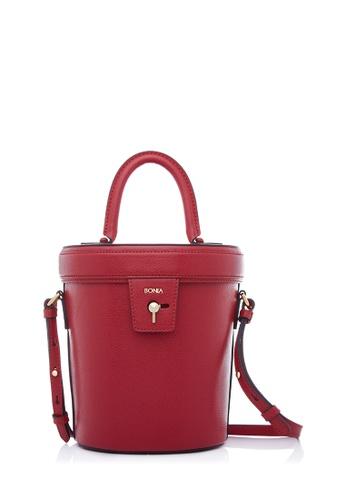 BONIA red Hearty Red Audrey Bucket Bag BO777AC00LZRMY_1