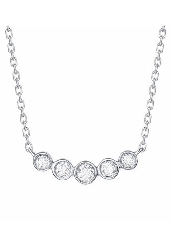 Smiling Rocks 白色 14K白金0.17克拉實驗室培植鑽石泡泡系列項鍊 878D8AC4224205GS_1