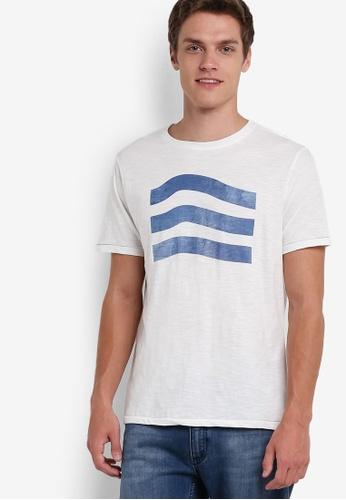 MANGO Man white Printed Cotton T-Shirt MA449AA95HMQMY_1