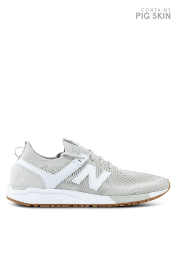 New Balance white and beige 247 Deconstructed Lifestyle Sneakers CE433SH26BEBACGS_1