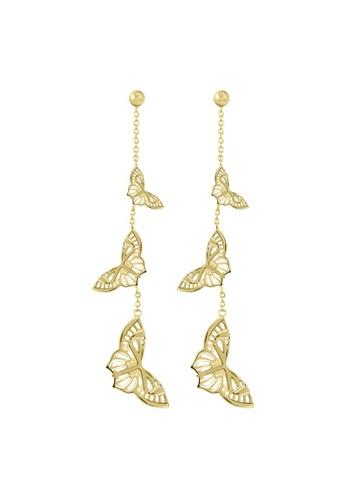 Sara Miller gold Sara Miller - Kew Butterfly Drop Earrings - Gold (SAJ1006) 06FD7AC625CBF7GS_1