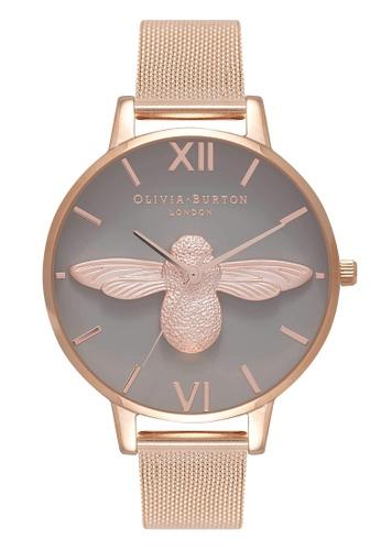 Olivia Burton gold 3D BEES Rose-Gold 38 mm Women's Watch 152E9ACEC0E20DGS_1