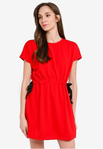 LC Waikiki red Bow Detail Stretch Dress BEA6AAAA32AC56GS_1
