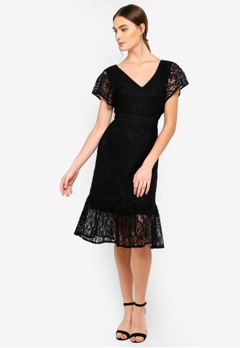 a64cfdc01e Shop FORCAST Valerie V-Neck Lace Dress Online on ZALORA Philippines