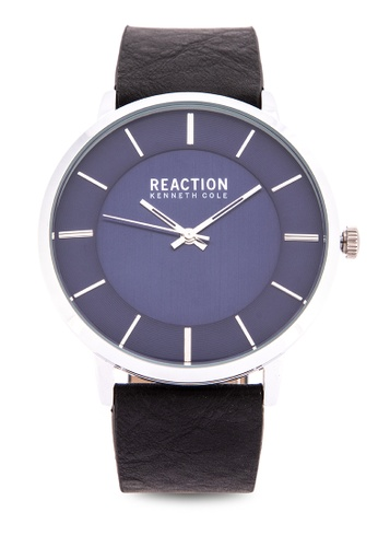 7185c2b7db5 Kenneth Cole Reaction black Men Black Leather Strap Analog Watch  3CF43ACA1131A9GS 1