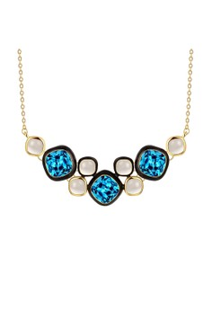 N927-A Blue Crystal Pendants Necklaces Party Jewelry
