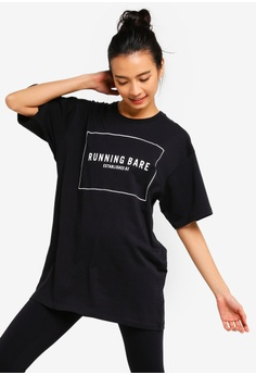 89ef86e648f Running Bare black Two Tribes 90's Relax Tee 3293DAA694F9DAGS_1