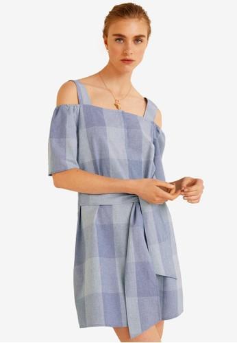 MANGO blue Printed Cotton Dress 68D4CAA19D0BBFGS_1