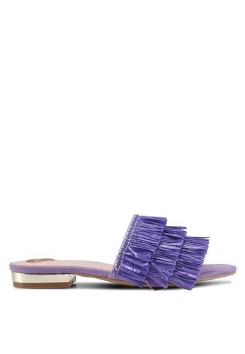 Velvet purple Fringe Sandals 4FD8ASHDA9A7F5GS_1