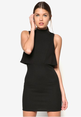 esprit服飾層次高領洋裝, 服飾, 服飾