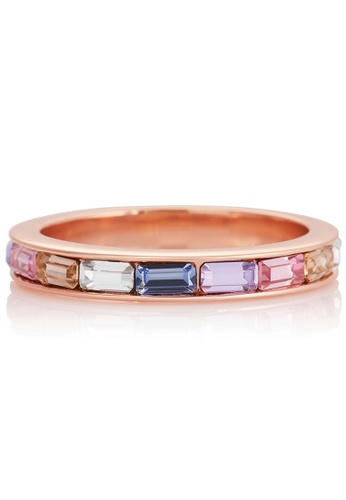 Olivia Burton gold Olivia Burton Rainbow ROSE GOLD Fixed Ring (OBJRBR03B) 4B05EAC685AD47GS_1