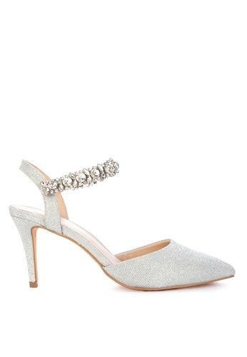 Matthews silver Amanda Closed Toe Heels 6DF21SH9519075GS_1