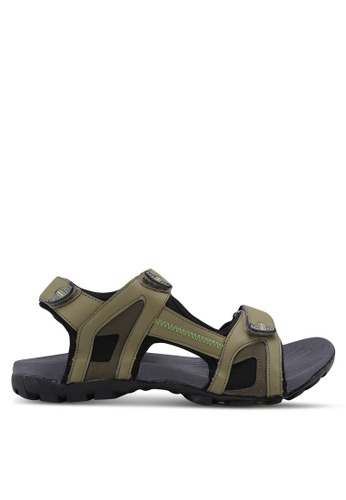 Power brown Athletic Core Sandals E41E3SH9B45199GS_1