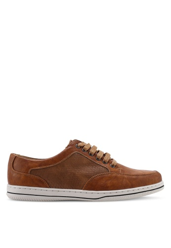 Carlton London brown Laced Up Sneakers 49CAESH7383159GS_1