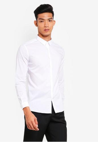 AT TWENTY white Tonal Piping Poplin Shirt 13484AA6B97ED1GS_1