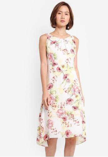 Wallis beige Petite Floral Embellished Dress 151E3AA277764BGS_1