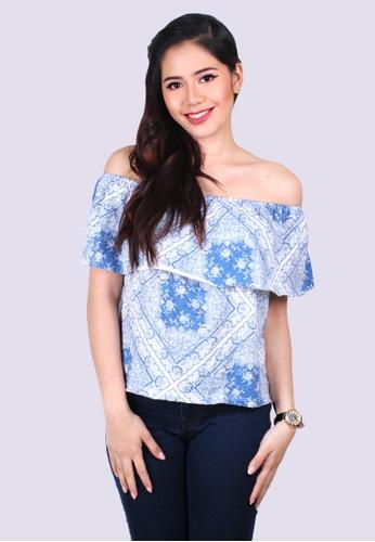 a2b75daa1fc Shop Cotton Republic Floral Cosette Off Shoulder Blouse Online on ZALORA  Philippines