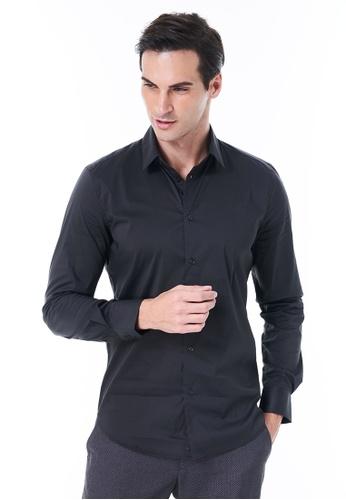 Sisley grey Slim Fit Shirt. 9CD3DAA55CCC8AGS_1