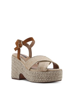 6641a858605 River Island Cross Strap Espradille Wedges RM 305.00. Sizes 3 4 5 6 7