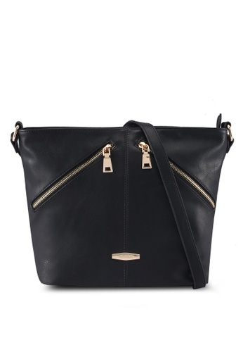 Perllini&Mel black Faux Leather Sling Bag 5CE98ACBFF6E32GS_1