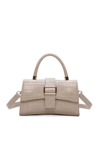 Milliot & Co. beige Madison Top Handle Bag 09BE8AC66D1196GS_1