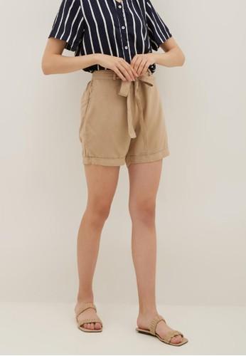 La Rosa beige La Rosa Basic Wear Short in Cream DBCB3AA141F377GS_1