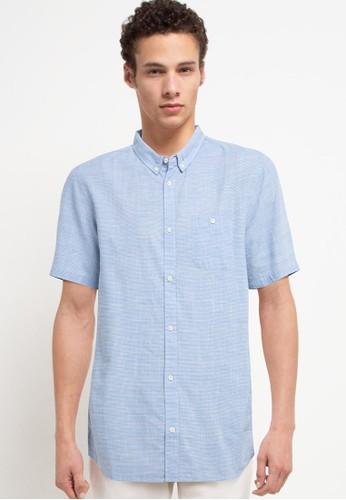 Quiksilver blue Firefall Ss Regular Shirt FC64CAAE07457EGS_1