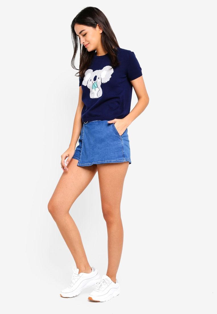 Koala Knitted Shirt Blue 6IXTY8IGHT T qwXdxaX6