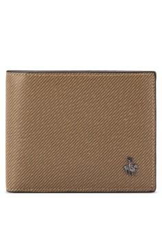 Swiss Polo 品牌徽章條紋錢包
