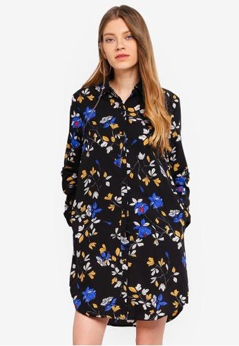 Liquorish black and multi Floral Dress 27A1BAAFF045F3GS_1