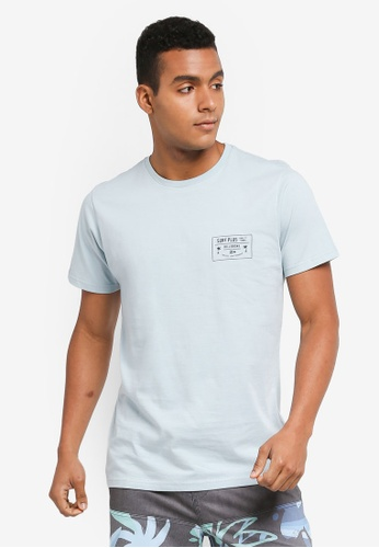 Billabong 藍色 短袖印花T恤 BI783AA0SXRNMY_1
