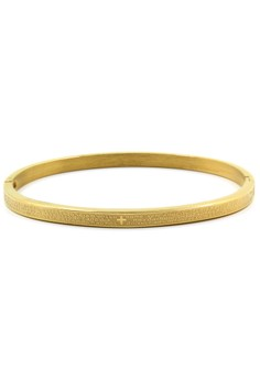 Venice Gold Our Father in Portuguese Clip Bangle