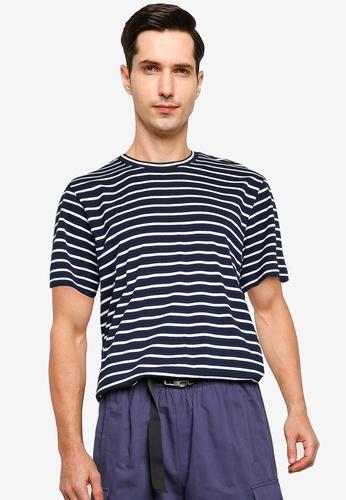 ZALORA BASICS multi and navy Stripe T-Shirt F6F55AA3B9A041GS_1